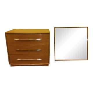 Mid-Century T.H. Robsjohn-Gibbings Dresser & Mirror