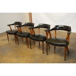 Image of Barnard & Simonds Leather Library Chairs - Set of 4