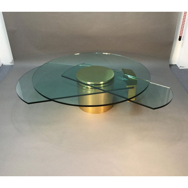 Dakota Jackson Self Winding Brass & Glass Table - Image 4 of 9