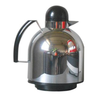1983 Furio Minuti for Guzzini Papillon Italian Chrome Thermos Carafe