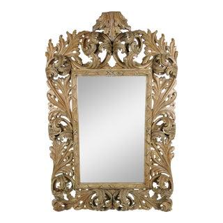 Elaborately Carved Rococo Mirror
