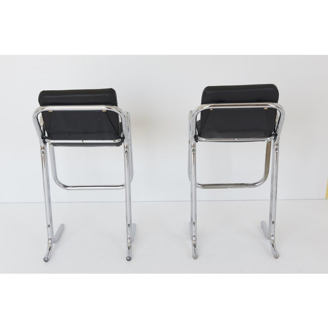 "Jerry Johnson ""Arcadia"" Tall Bar Stools - Pair - Image 5 of 10"