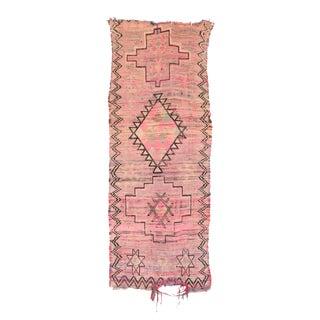 """Boujad Vintage Moroccan Rug - 3'4"""" x 9'2"""""""