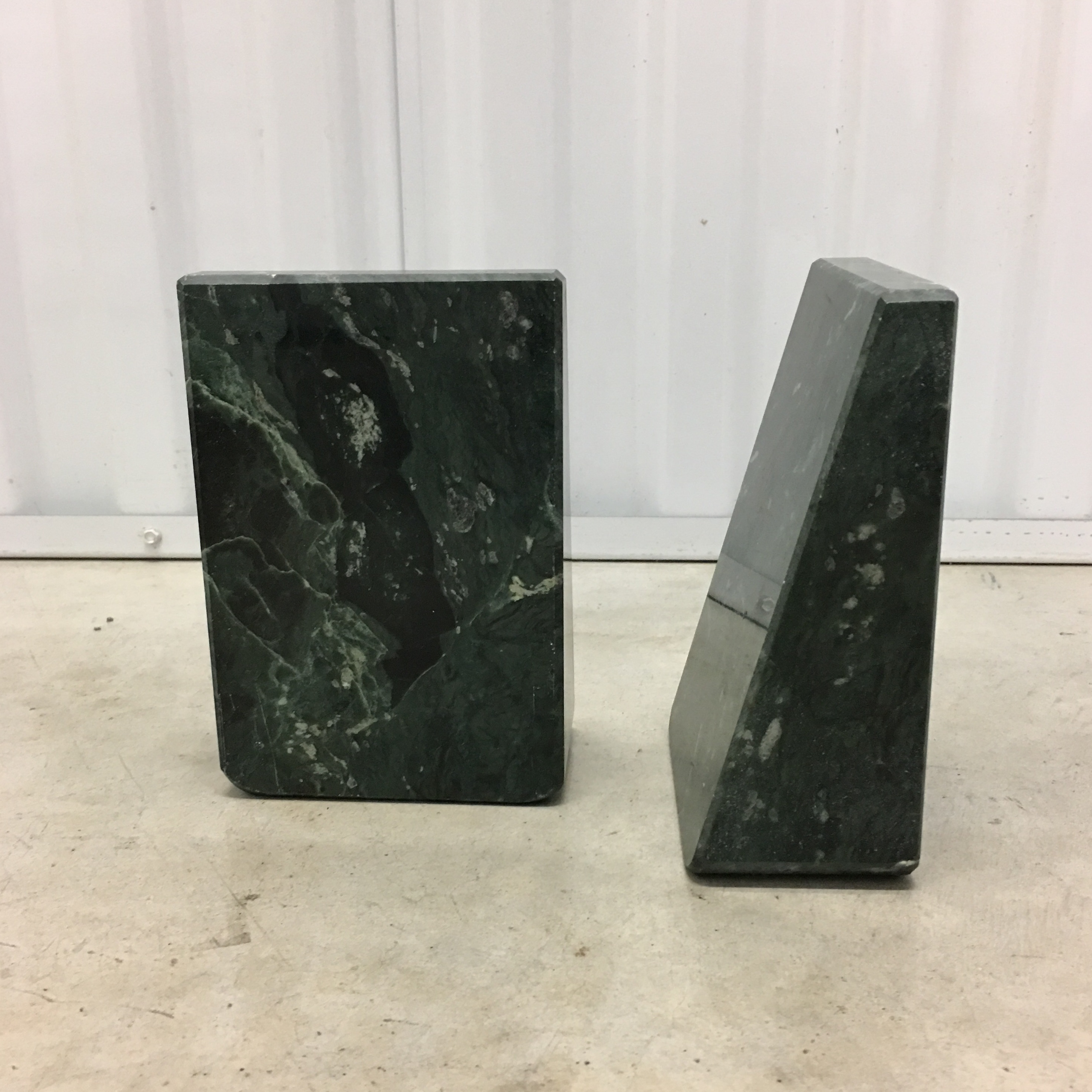 Green Marble Bookends A Pair Chairish