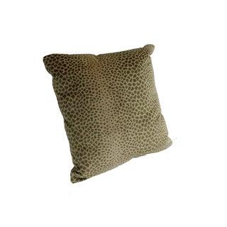 Silk Velvet Leopard Pillow