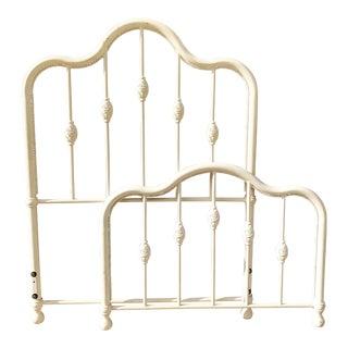 White Cast Iron Twin Size Bedframe
