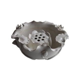 Blanc De Chine Flower Frog & Lotus Bowl