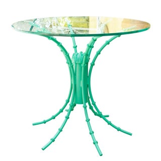 Turquoise High Gloss Iron Table