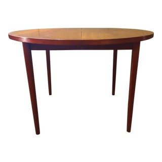 Mid-Century Modern Round Teak Dining Table