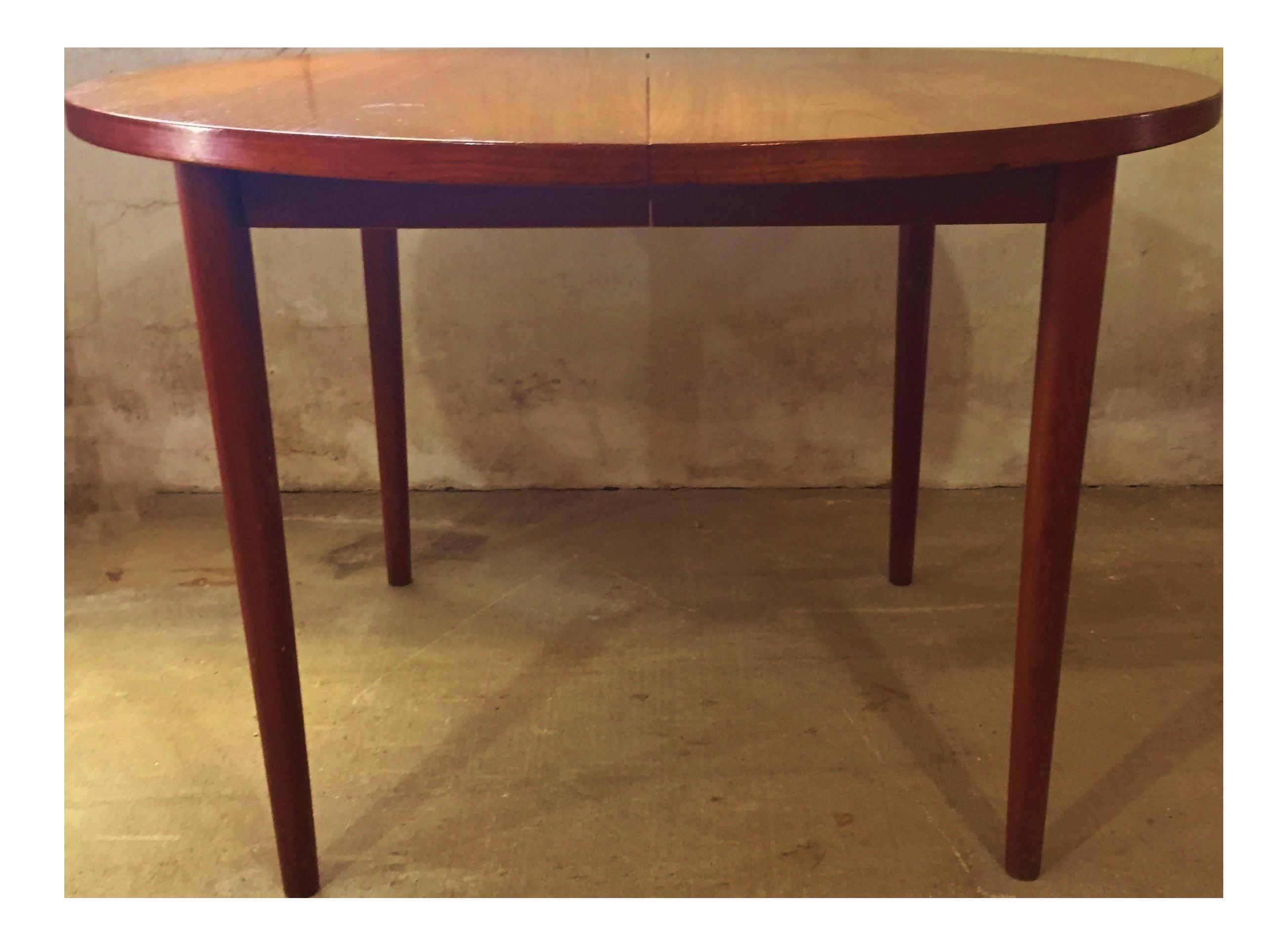Mid Century Modern Round Teak Dining Table