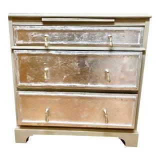 Silver Leaf Gray Chalk Mahogany 3-Drawer Dresser