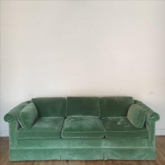 Baker Emerald Green Velvet Sofa Chairish