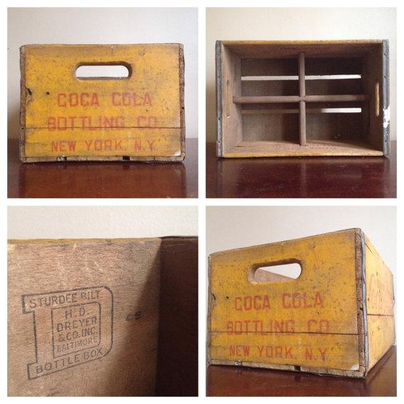 Vintage Yellow Wooden Coca Cola Crate - Image 5 of 6