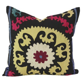 Flora Suzani Square Pillow