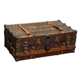 Vintage Wooden Steamer Trunk