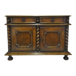 French Louis XIII Carved Walnut Buffet