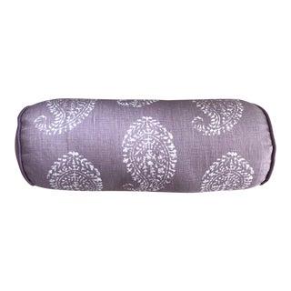 Custom Lavendar Paisley Bolster Pillow