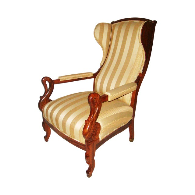 Image of Louis Phillipe Wing Back Armchair