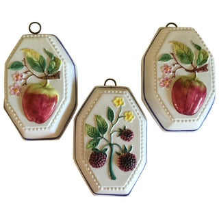 Italian Ceramic Fruit Decor - Set of 3