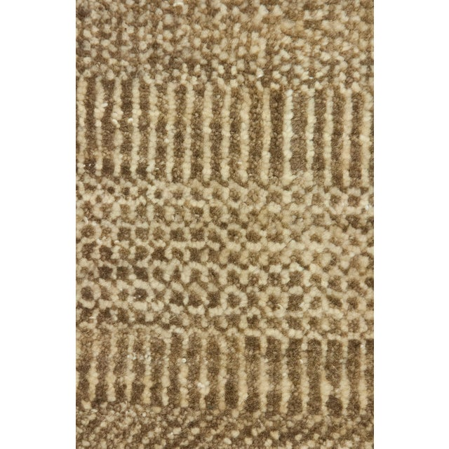 """New Tonal Stripe Hand Knotted Area Rug - 9' x 11'8"""" - Image 3 of 3"""