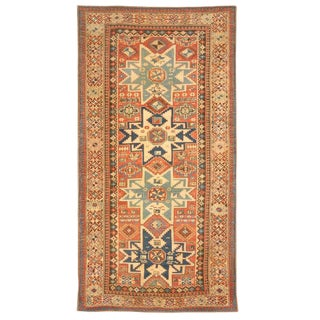 Antique Caucasian Lesghi Rug