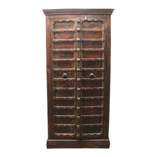 Custom Antique Indian Cabinet