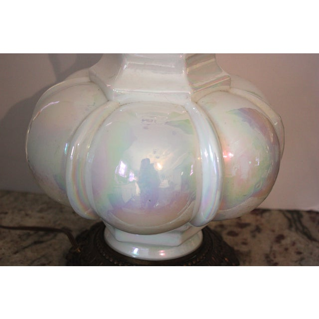 Image of Mid-Century Opalescent Lamp