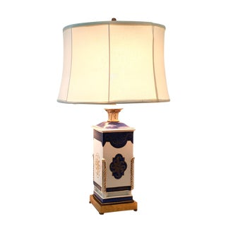 1940s French Directoire Style Ceramic Lamp