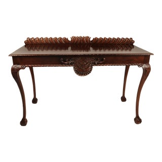 Chippendale Carved Mahogany Console Table