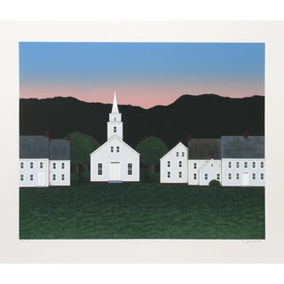 "Theodore Jeremenko ""Church at Sunset"" Silkscreen"