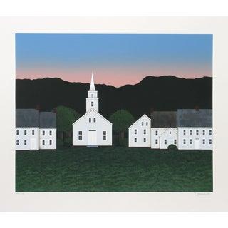 "Theodore Jeremenko ""Church at Sunset"" Silkscreen"