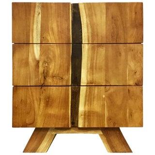 Wooden 3 Drawer Bedside Table