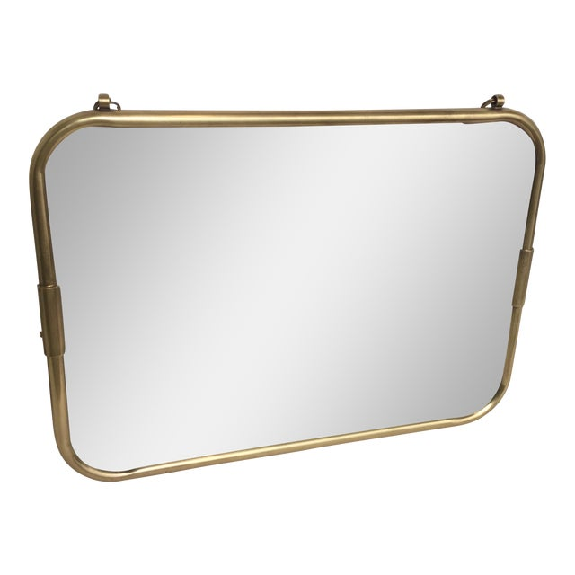 Art Deco Brass Horizontal Mirror - Image 1 of 5