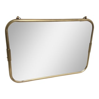 Art Deco Brass Horizontal Mirror