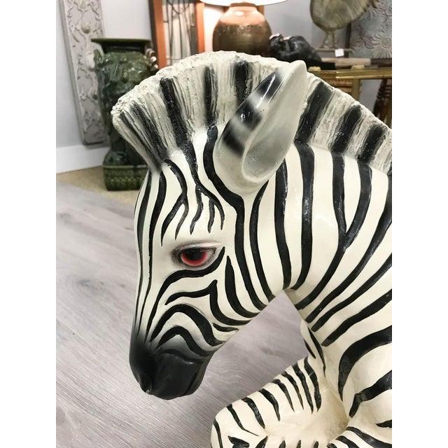 Large Mid Century Ceramic Zebra Statue - Image 2 of 9