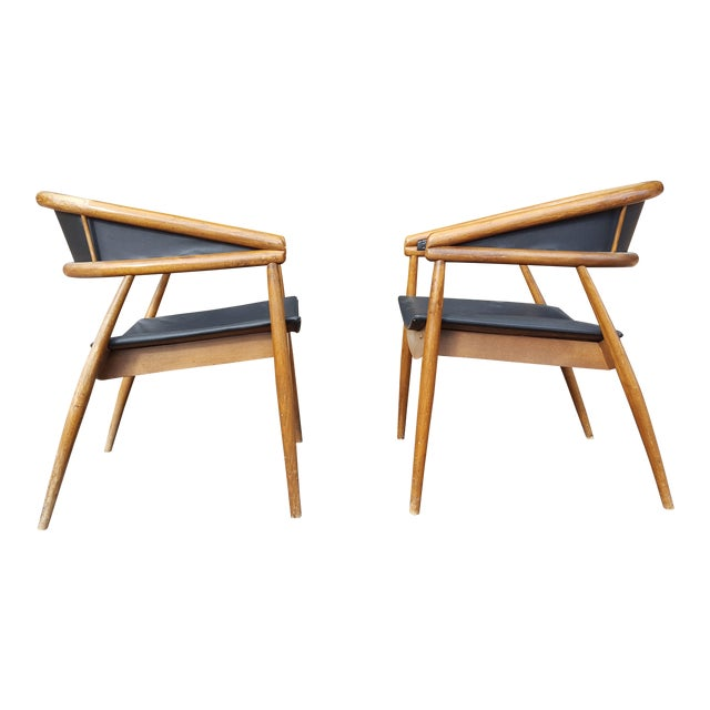 James Mont Vintage Mid-Century Lounge Chairs - A Pair - Image 1 of 7