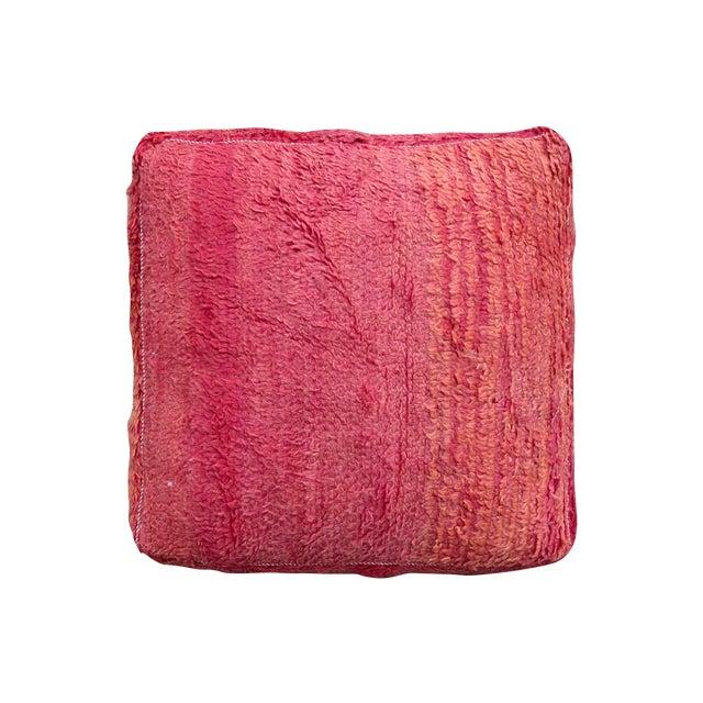 Pink & Orange Moroccan Floor Pillow - Image 1 of 3
