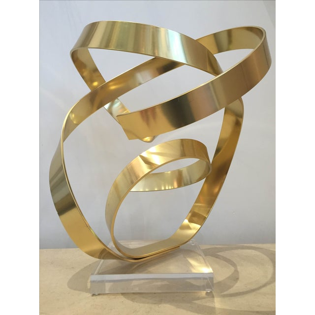Signed Ribbon Sculpture by Dan Murphy - Image 2 of 3