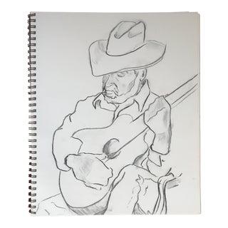 The Guitarist II Drawing