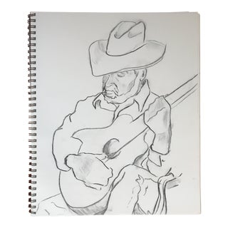 The Guitarist II Drawing