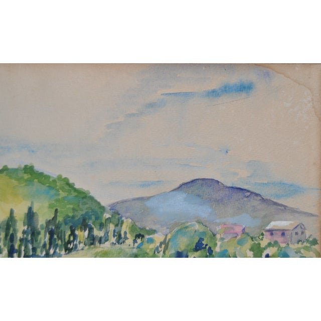 Orignal Watercolor by Frances Wells C.1950's - Image 6 of 8