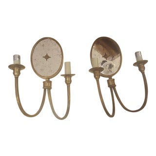 Metal Wall Sconces - A Pair