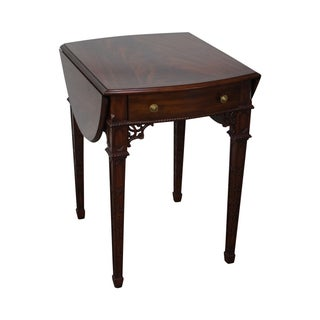 Maitland Smith Flame Mahogany Chippendale Table