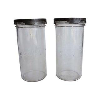 French Kitchen Storage Jars - A Pair