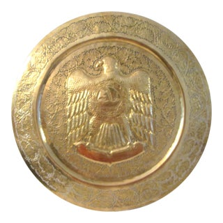 Vintage Large Brass American Eagle Wall Hanging