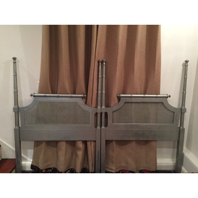 Image of Hollywood Regency Pagoda Twin Headboards - A Pair