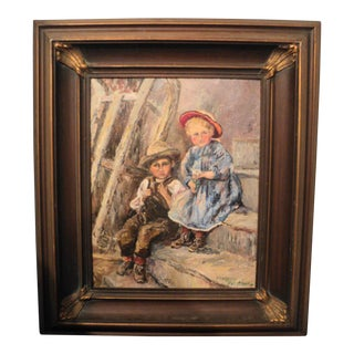 Margery Delatour Framed and Signed Oil Painting