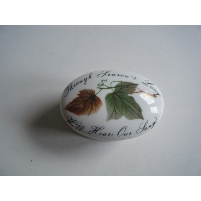 Image of Vintage Romantic Royal Adderley Leaf Trinket Box