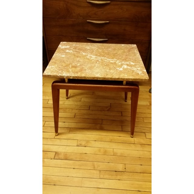 Mid Century Italian Floating Marble Top Table - Image 2 of 10