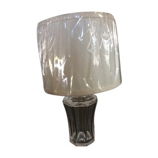 Vintage Crystal Lamp & Shade